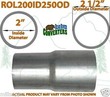 """2"""" ID to 2 1/2"""" 2.5"""" OD Universal Exhaust Pipe to Component Adapter Reducer"""