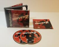 Driver 2 Sony PlayStation 1 2000 ps1 bl black label cib complete with manual