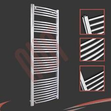 600mm(w) x 1600mm(h) Curved Chrome Heated Towel Rail 3019 BTUs Radiator Warmer