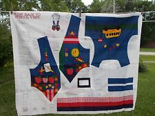Kid's Back to School Vest Fabric Panel Cut Out Youth 6-12 Size Sew Cotton VIP