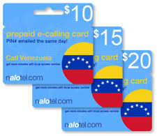 Cheap International calling card for Venezuela with emailed PIN