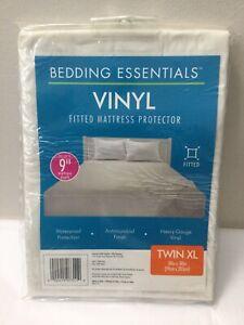 "Bedding Essentials 9"" Fitted Vinyl Mattress Protector Waterproof Twin XL 39 x 80"