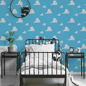 Disney Toy Story Andy's Room Blue Wallpaper
