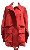 A.L.C. OVERSIZED RED COTTON JACKET, M, $1100