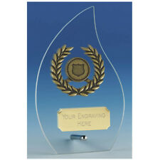 JC127A HOPE FLAME GLASS SIZE 16 CM  FREE ENGRAVING