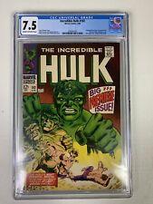 Incredible Hulk #102 CGC 7.5 PREMIERE ISSUE 1968