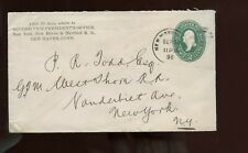 Us Advertising Cover (2nd Vp, Ny, New Haven & Hartford Rr) 1896 New Haven, Conn