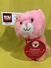 Kenner Vintage Strawberry Shortcake CUSTARD the Cat Plush Stuffed Animal