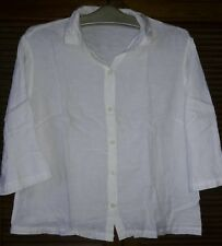 Plain White Linen Blouse (Medium to Semi Large Size)