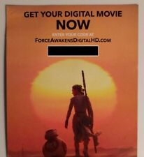 Star Wars: The Force Awakens DIGITAL CODE ONLY EMAILED FAST AFTER PAYMENT
