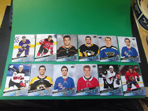 LOT OF (12) 2020-21 UPPER DECK EXTENDED HOCKEY YOUNG GUNS RC CARDS