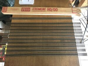 "11x Peco SL-100 Streamline OO Gauge Flexi Track Nickel Silver  x 36"" Long VGC"