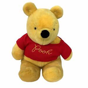 "Sears Gund Winnie The Pooh Disney Red Sweater Vintage Soft Plush Large 23"""