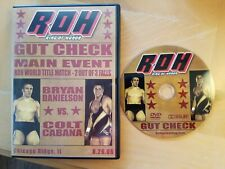 Gut Check Ring of Honor DVD ROH Chicago Ridge IL 8/26/06 Colt Cabana Bryan