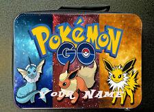 Blue Personalizado Personalizado No Oficial Pokemon aislado bolsa de almuerzo 24 cm X 18 Cm
