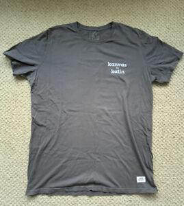 Kanvas by Katin Custom Surf Trunks K-Man T Shirt Gray Short Sleeve Large.