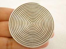Round Disc Karen Thai Hill Tribe No Stone 999 Sterling Silver Pendant