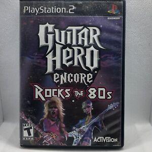 Sony Playstation 2 PS2 Guitar Hero Encore: Rocks The 80s Complete In Box CIB