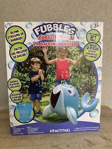 Fubbles Bubblin' Whale Inflatable Bubble Machine - Battery - Outdoor Toy