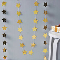 Star Paper Garland Banner Bunting Drop Wedding Party Baby Showeration:
