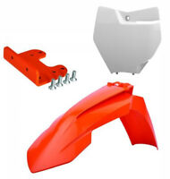 KTM Front fender bracket adaptor 2007 - 2012 + front fender + Number Board kit