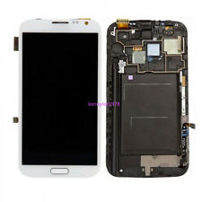 Pour Samsung Galaxy Note 2 N7100 écran LCD verre vitre touch screen+cover blanc