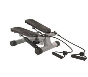 Sunny Health & Fitness NO. 012-S Mini Stepper Step Machine w/ Resistance Bands a