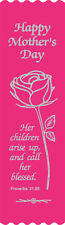"""""""Her Children Arise"""" Mother's Day Bible Bookmark Ribbons, pack of 10"""