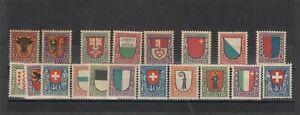 Sammlung Pro Juventute 1918-1923 ** kpl. 253,- Mi.