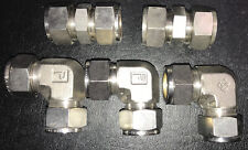 """YOR-LOK Tube Compression Fittings 316 Stainless 3/4"""" Fittings PARKER"""