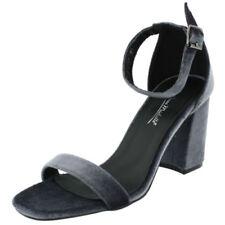 Scarpe da donna blocchetti cinturini alla caviglia grigi