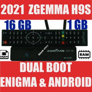 NEW 2021 Zgemma H9S SE 4K UHD 1x DVB-S2X - Android / Enigma2 - WIFI IPTV