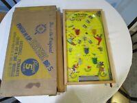 Vintage Poosh-M-Up Big 5 Electric Pinball Bagatelle Origina Box 452 Northwester