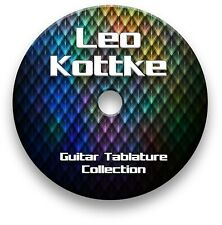 LEO KOTTKE FINGERSTYLE GUITAR TAB TABLATURE SONG BOOK SOFTWARE CD