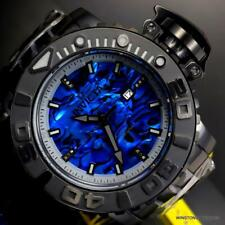 Invicta Sea Hunter Gen II Blue Abalone Diamond Auto 70mm Black Steel Watch New