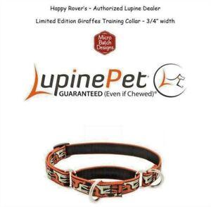 "Lupine Lifetime Training Martingale Dog Collar 3/4"" LIMITED - Giraffes"