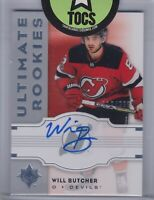 Will Butcher 2017-18 UD Ultimate Collection Ultimate Rookies Auto 116/299