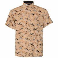 KAM Mens Big Tall Size Hawaii Beach Cotton Short Sleeve Summer Shirt Button Down