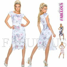 Mid-Calf Stretch, Bodycon Casual Floral Dresses for Women
