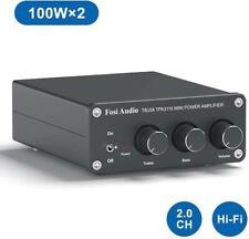 New listing 2 Channel Stereo Audio Amplifier Mini Hi-Fi Class D Integrated Amp 100W x2 Tb10A