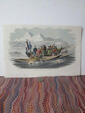 Vintage Print,SEAL FISHING,Coast of Greenland,Colroed,Frank Leslies,1856