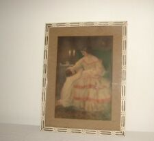 Vintage Chromo Lithograph Victorian Mother Child signed Francis