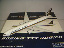 "Phoenix 400 Singapore Airlines SQ B777-300ER ""2000s color"" 1:400 9V-SWD"