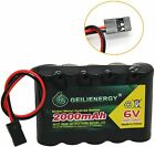 GeiLienergy 1pcs 6.0V 2000mAh Flat Receiver RX NiMH Battery Pack For RC Aircraft