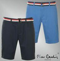 Mens Pierre Cardin Zip Fly Woven Belt Stylish Chino Shorts Sizes S-XXL