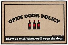 "Open Door Policy ""WINE""  - Indoor/Outdoor Mat/Welcome Mat/Porch Mat"