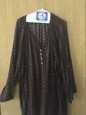 MIB Making It Big blouse size 6X work blouse black, gray, red print
