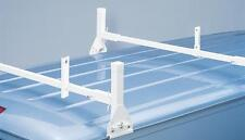 All Aluminum 2 Support Ladder Rack - White - for 1996 1/2 & Newer Chevy/GMC Van