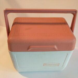Vintage Rubbermaid Gott Cooler lunch Console pink blush mauve white 6 pack