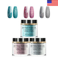 3Boxes MEET ACROSS 10ml Dipping System Powder Dip Nail Art Pigment Natural Dry
